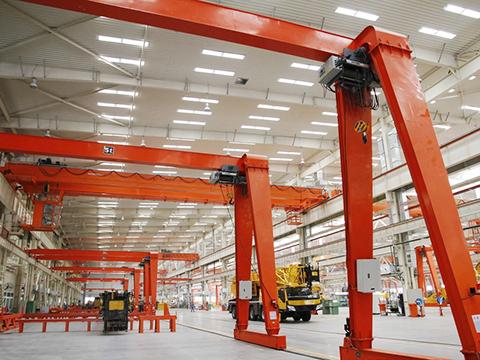 workshop semi gantry crane sales