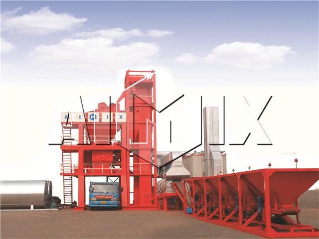 Stationary asphalt mixing plant