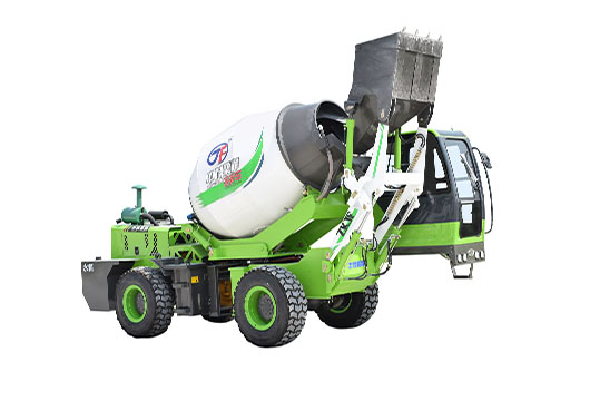 Low profile mixer truck