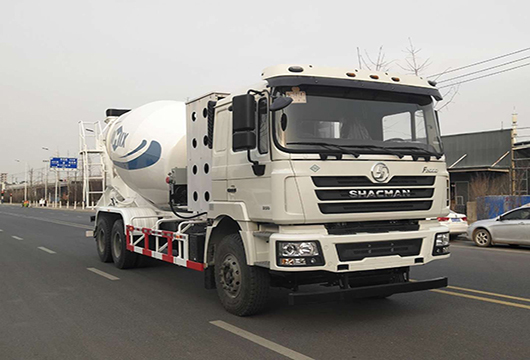 Cement and Concrete Mixer Truck